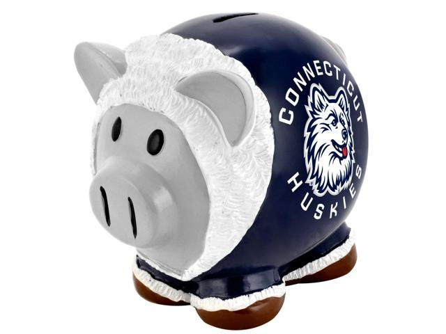 Connecticut Huskies NCAA Resin Large Thematic Piggy Bank