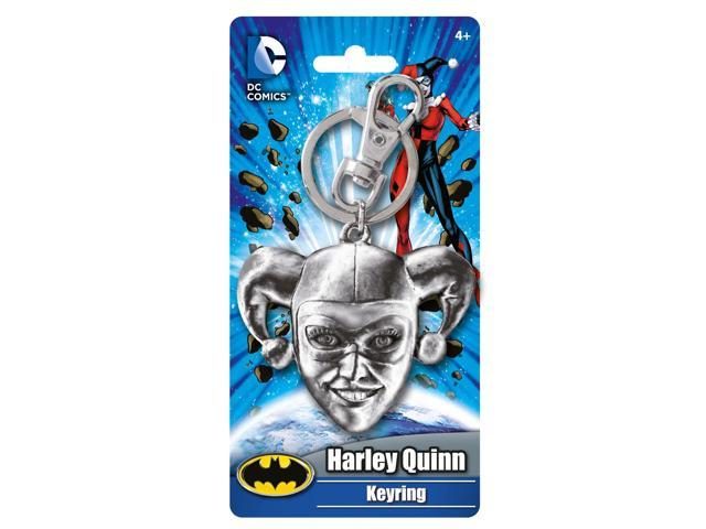 DC Comics Harley Quinn Head Pewter Key Ring