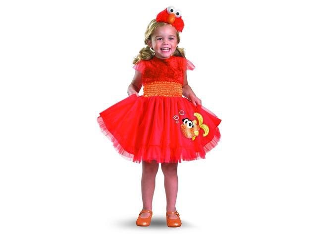 Sesame Street Frilly Elmo Dress Costume w/Headband Baby 4-6