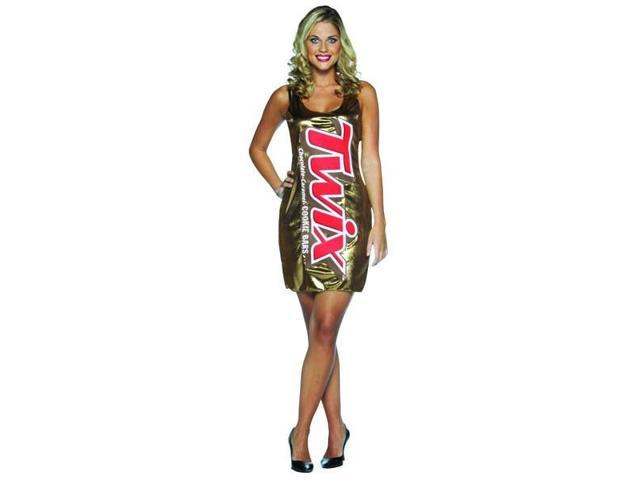 Twix Chocolate Candy Bar Wrapper Tank Dress Costume Adult Standard