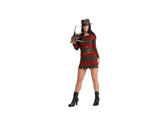 Nightmare On Elmstreet Sexy Female Freddy Adult Costume Medium