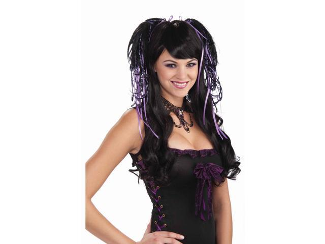 Wild & Witchy Black/Purple Costume Hair Piece Comb Accessory