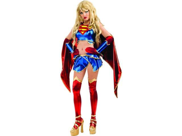Supergirl Ame-Comi Series Anime Costume Adult Small 2-6