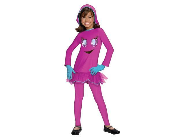 Pac-Man & The Ghostly Adventures Deluxe Pinky Costume Dress Child Small
