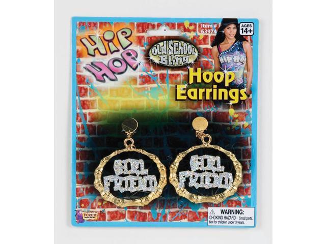 Hip Hop Costume Earrings