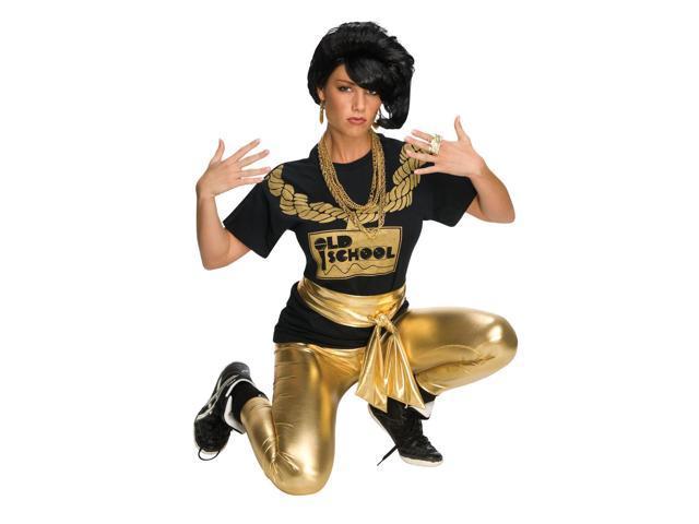 Rapper Rocker Girl 80'S Adult Costume Wig - Black