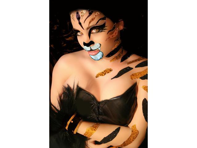 Xotic Costume Body Art Rhinestone Sticker Set- Tiger