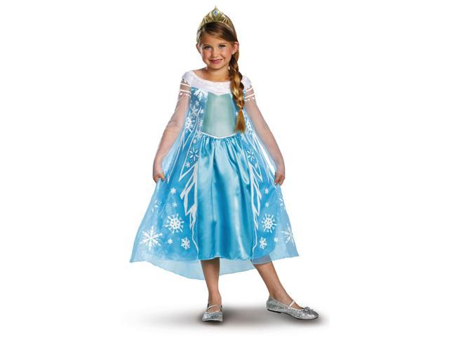 Disney Frozen Deluxe Elsa Costume Child Toddler 4-6