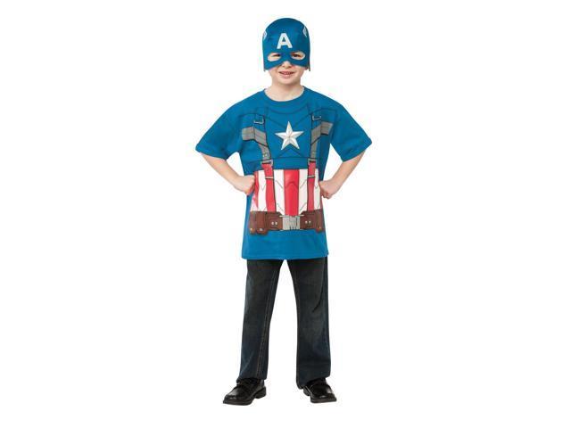Winter Soldier Marvel Captain America T-Shirt Child Costume Large