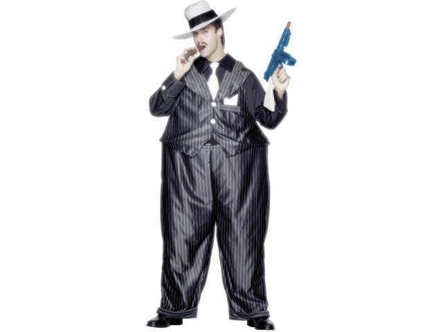 Fat Cat Gangster Hooped Costume Adult One Size Fits Most One Size