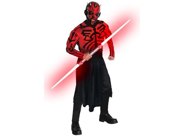 Star Wars Deluxe Darth Maul Muscle Chest Costume Jumpsuit Adult One Size
