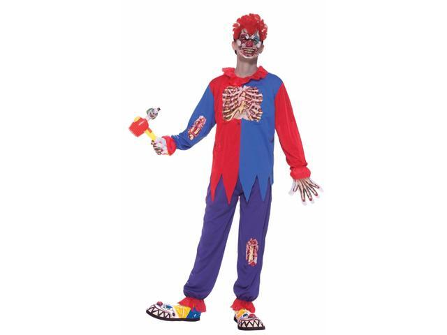 Scary Horror Clown Costume Child Large