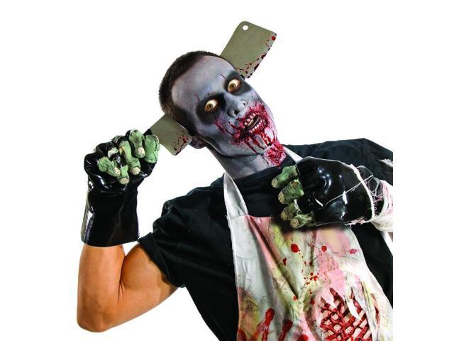 Zombie Black Molded Gloves Costume Accessory