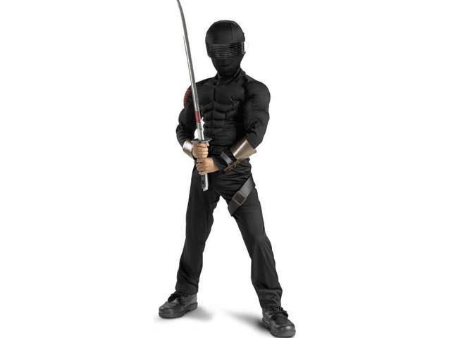 GI Joe Movie Snake Eyes Classic Muscle Child Costume 4-6