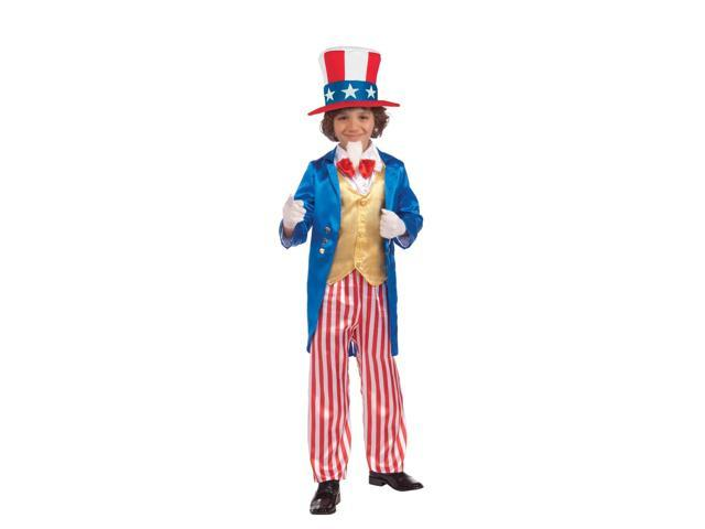 Deluxe Uncle Sam Patriotic Child Costume Medium