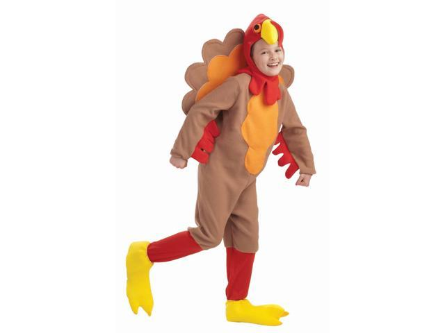 Child Fleece Turkey Costume Medium 8-10