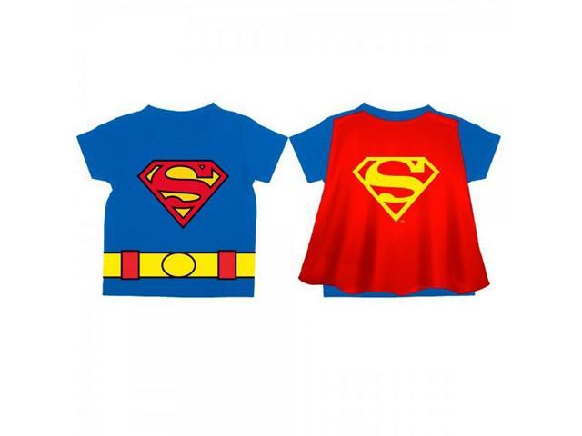 DC Comics Superman Logo Royal Cape Toddler Tee 3T
