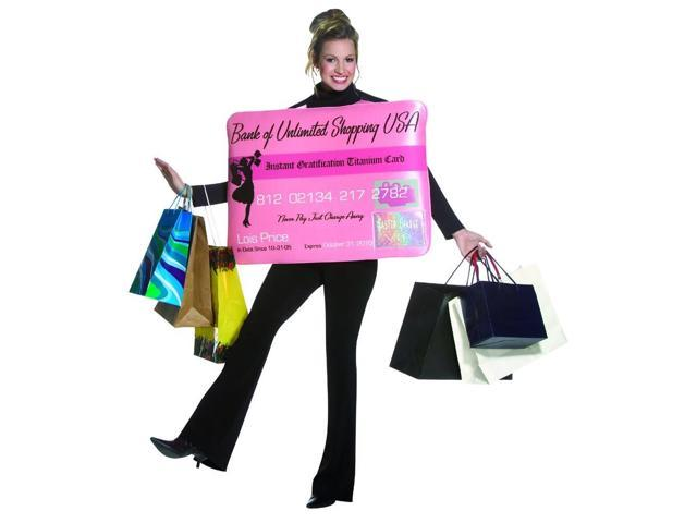 Miss Charge It Credit Card Costume Adult Standard