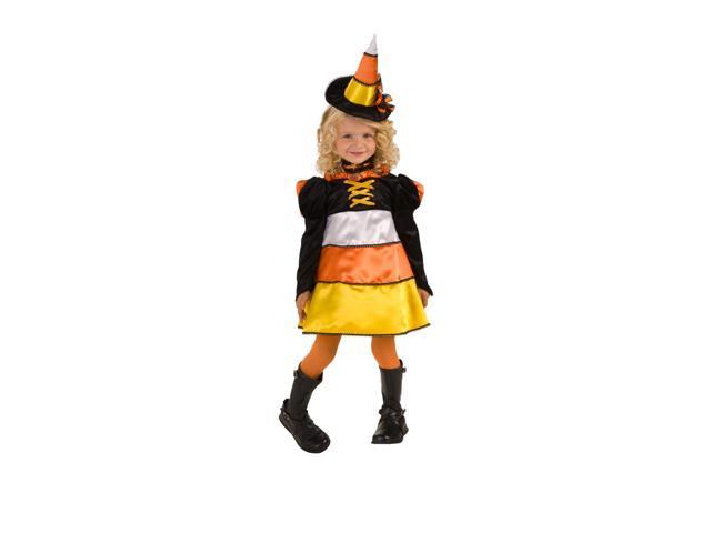 Candy Corn Witch Costume Dress Child Toddler Medium 8-10