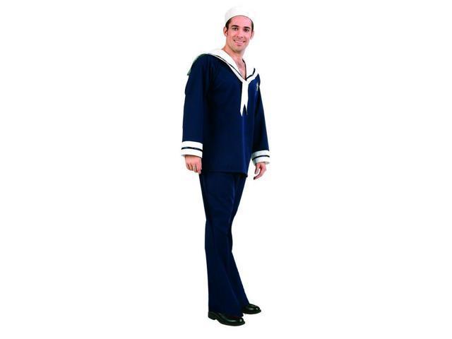 Sailor Navy Blue Long Sleeve Costume Adult Standard