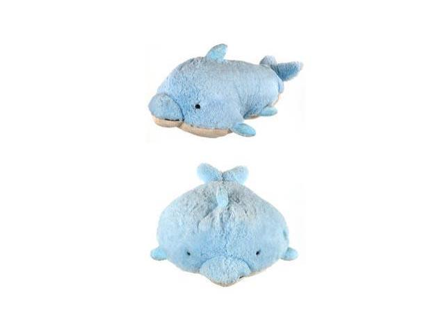 """My Pillow Pets Large 18"""" Square Squeaky Dolphin Plush Pillow"""