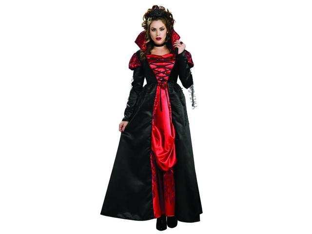 Transylvanian Vampiress Red & Black Female Costume Dress Adult Standard
