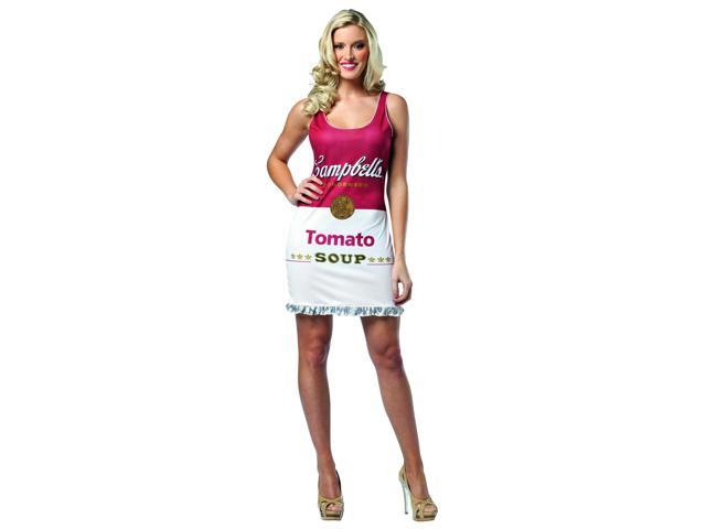 Campbell's Tomato Soup Can Costume Dress Adult One Size 4-10