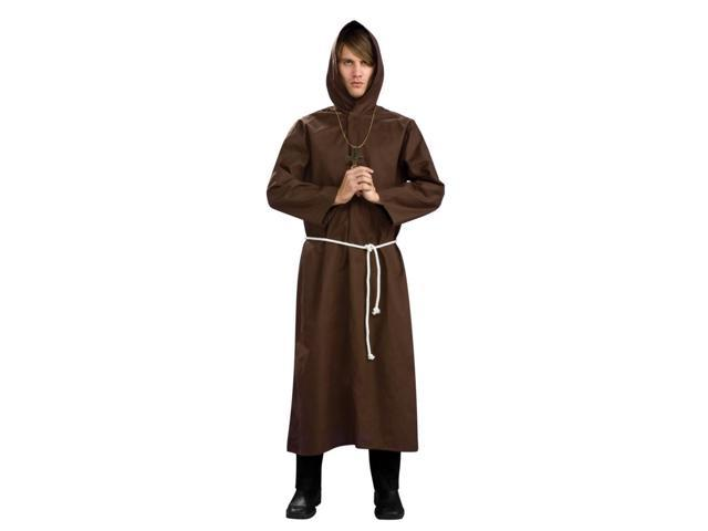 Brown Monk Robe Costume Adult Standard