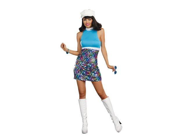 Shake Your Groove Thing Sexy Disco Costume Dress Adult X-Large