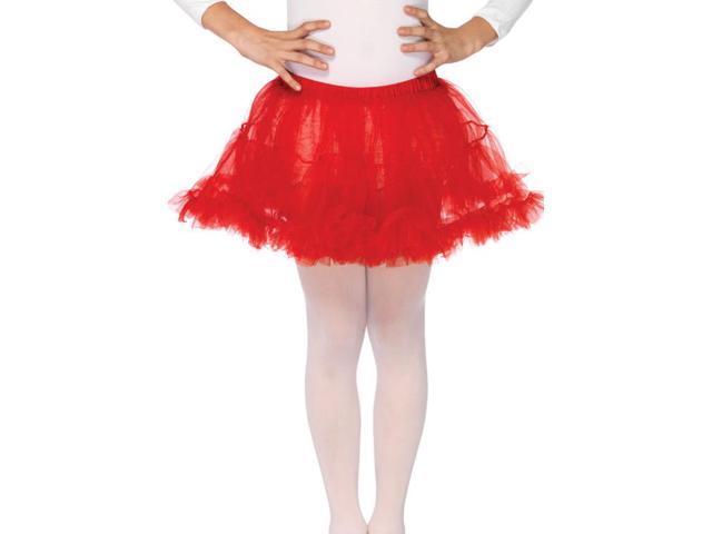 Red Costume Petticoat Child Medium/Large 10-14