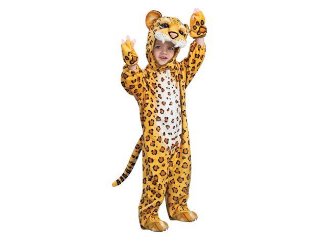 Orange Leopard Jumpsuit Costume Child Toddler 2T-4T