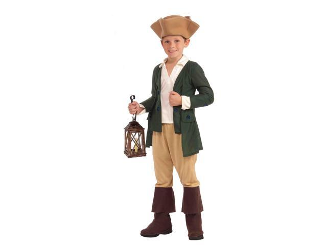Paul Revere Child Colonial Costume Large