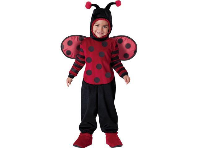 Ity Bitty Lady Bug Deluxe Toddler Child Costume Medium 4T