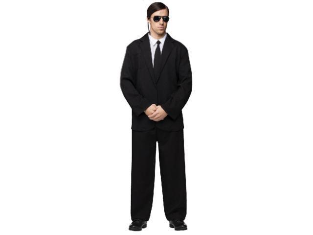Men In Black Secret Service Black Suit Costume Adult One Size Fits Most