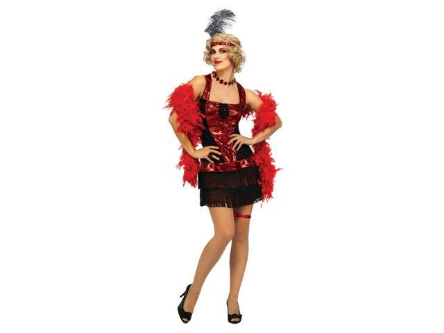 20's Charleston Speakeasy Flapper Dress Costume Adult One Size Fits Most