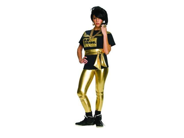 Old School Rapper Chain Costume T-Shirt Adult Standard Women's