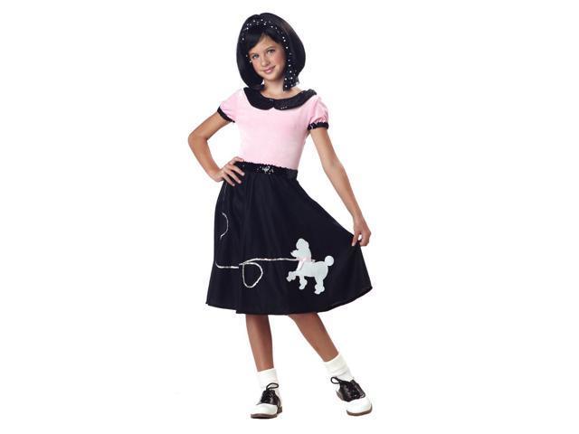 50'S Poodle Skirt Costume Child Tween Tween 10-12