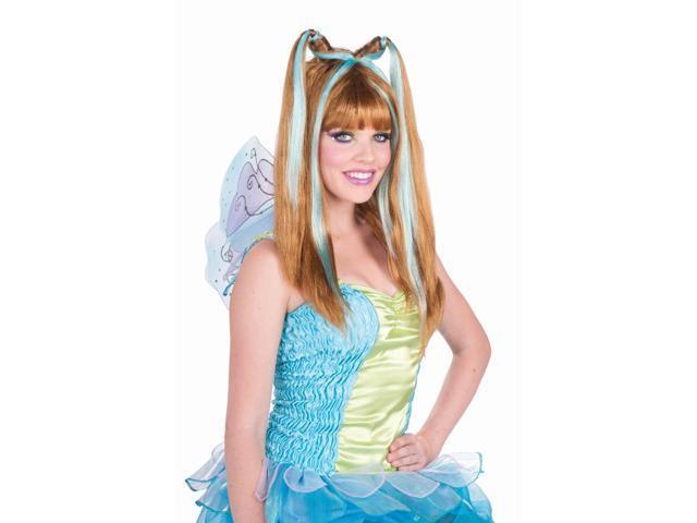 Spring Fairy Aqua Fantasy Adult Costume Wig