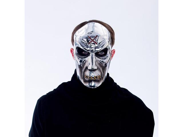 Maniacs PVC Molded Metallic Silver Zombie Adult Costume Mask