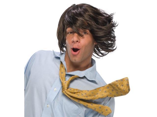 Crazy Wind Blown Hair Brown Costume Wig