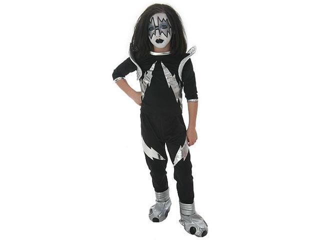 KISS Authentic Rock The Nation Spaceman Costume Child Large
