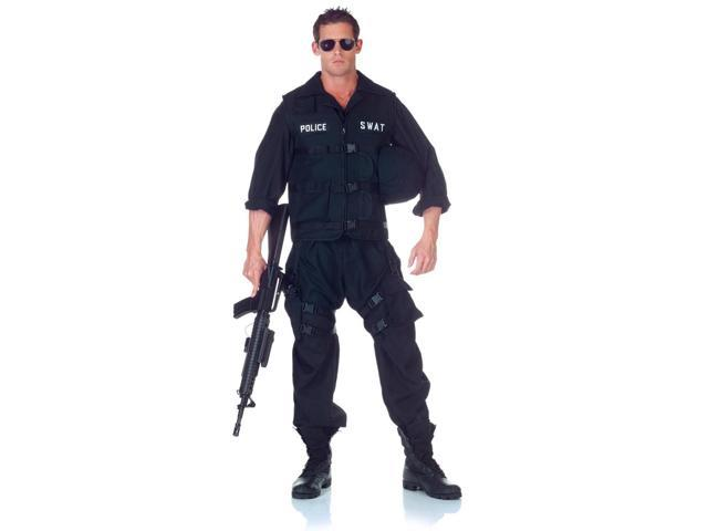 SWAT Team Police Uniform Jumpsuit Costume Adult One Size Fits Most