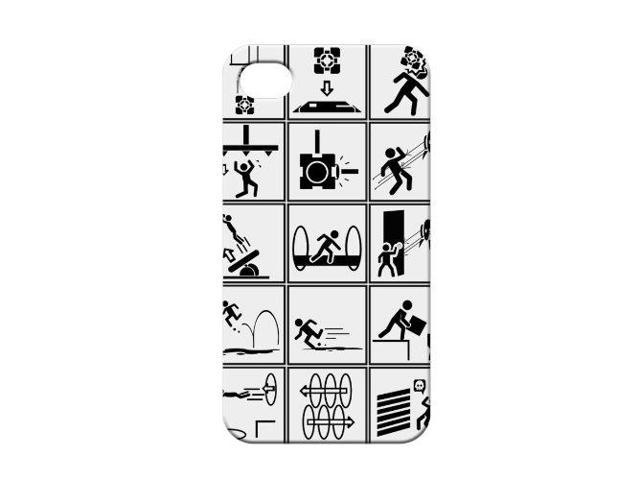 Portal 2 Iphone 4 Chamber Squares Phone Case
