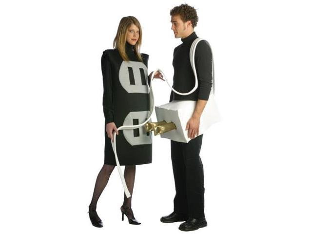 Plug & Socket Couples Costume Adult Plus Plus 14-20