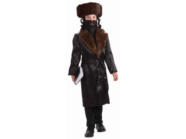 Rabbi Costume Coat & Belt Child Small 4-6