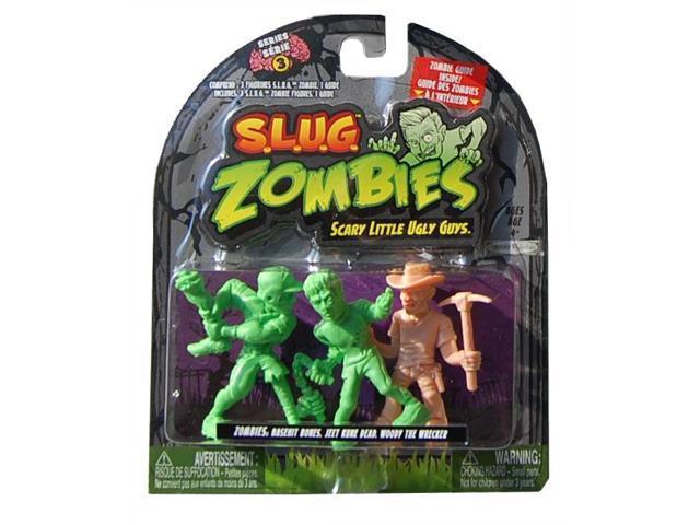 S.L.U.G Zombies Wave 3 Basehit Bones, Jeet Kune Dead,Woody Wrecker