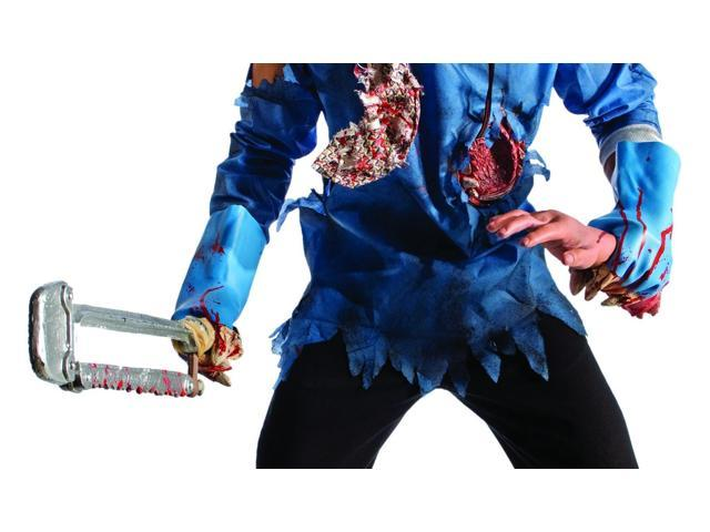 Zombie Blue Molded Gloves Costume Accessory