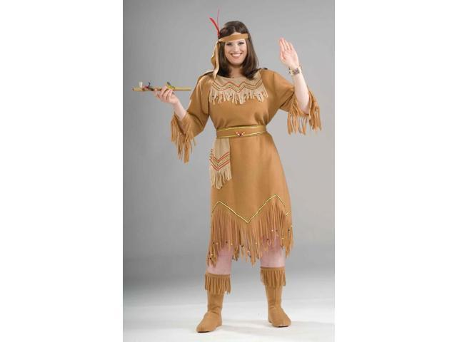 Native American Maid Costume Adult Plus Plus Size