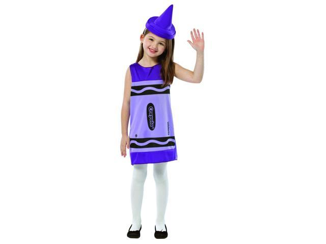 Crayola Wisteria Purple Tank Costume Dress Child Small 4-6X
