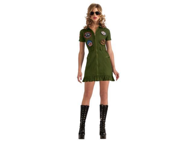 Top Gun Sexy Flight Dress Costume Adult Small 2-6